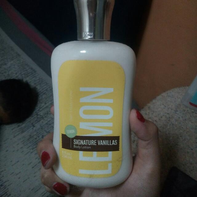 Lemon Signature Vanillas Body Lotion