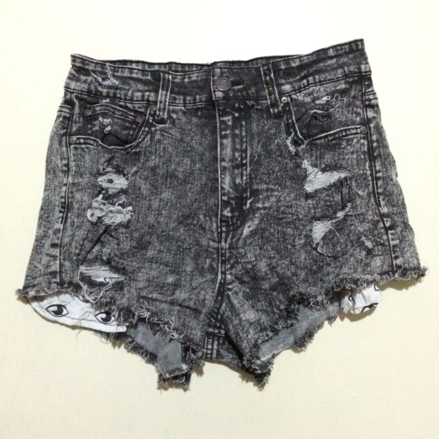 Maong short High Waist