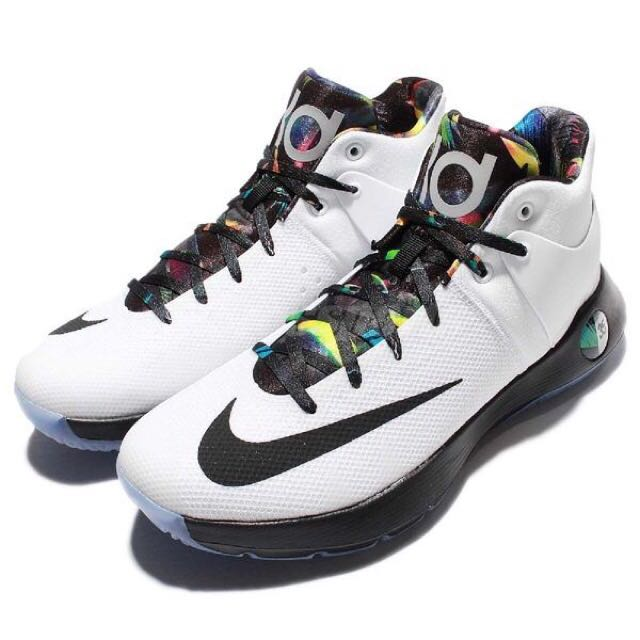 Nike籃球鞋 KD trey 5 IV EP 白 黑 雷帝