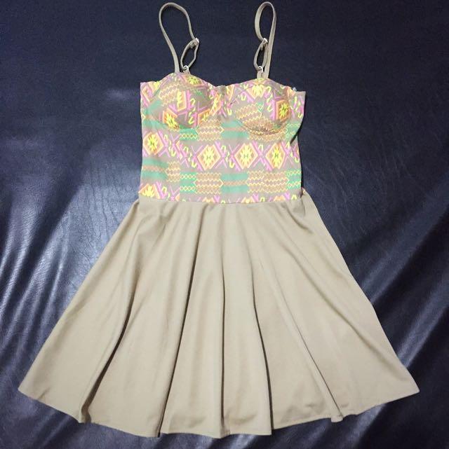 Nude/Aztec Dress