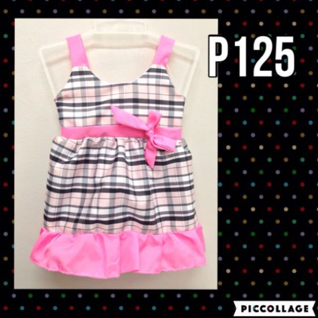 Pink Checkered Baby Dress