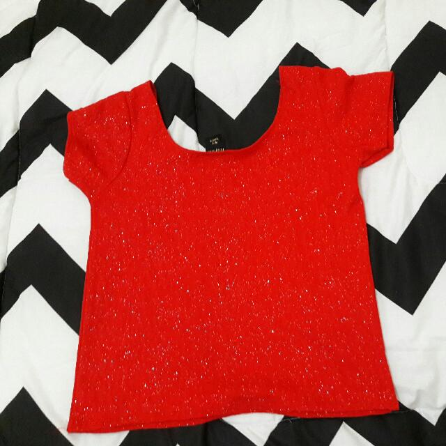 Red Cropped TOP size : M