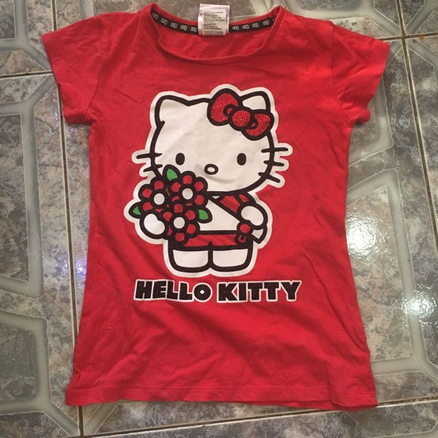 Red Hello Kitty T-shirt// Size 10