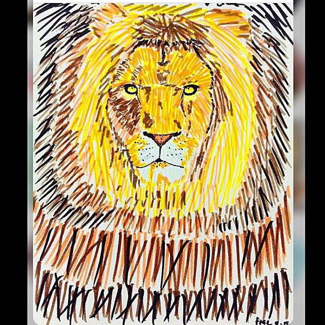 """""""Roar"""" By The Lion - Brushpen Art"""