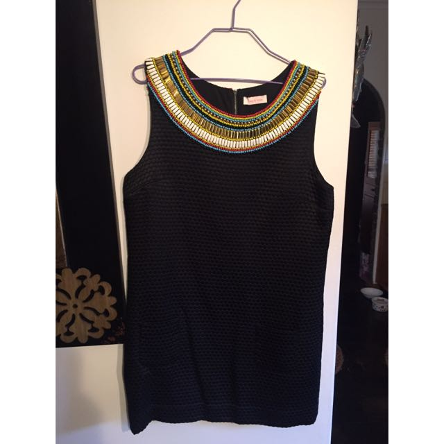 Sass & Bide black with beading dress size 12