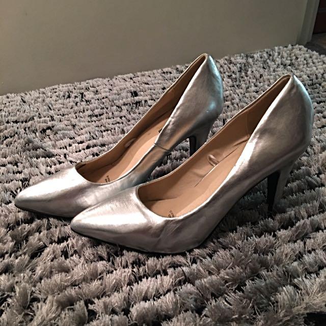 Silver Ladies Heels