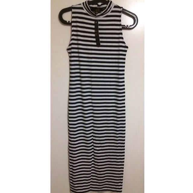 STRIPE Maxi Dress Size S