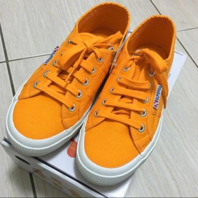 Superga 橘色 休閒鞋