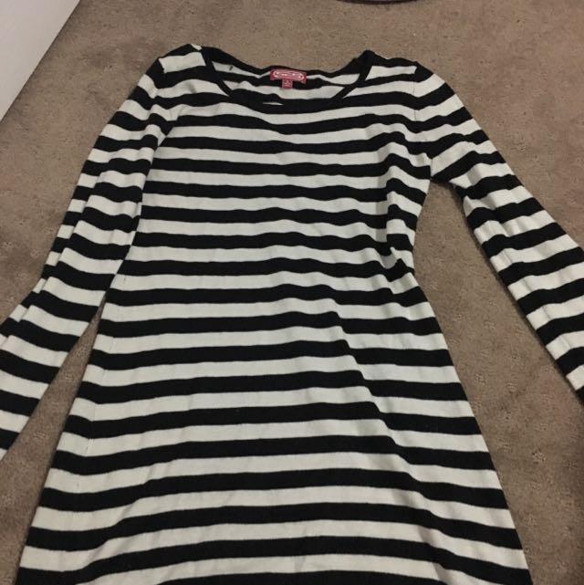 Temt Long Sleeve Stripe Dress
