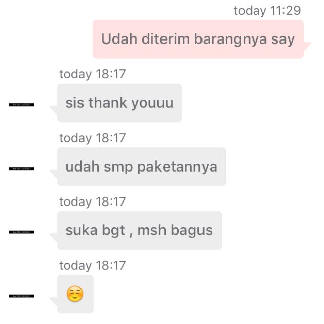 Testimonial from satisfied customer. Thank you for shopping! ❤️