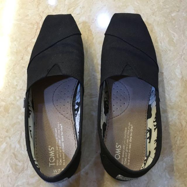 Toms 懶人鞋 黑色 US7.5