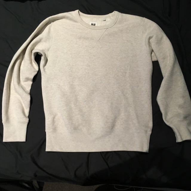 Uniqlo Beige Pullover Sweatshirt