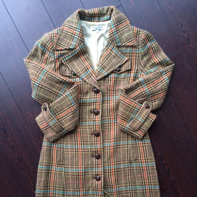 Vintage Check Coat