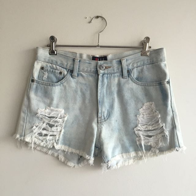Vintage Reworked Women's Denim Shorts Size 10 FREE SHIPPING