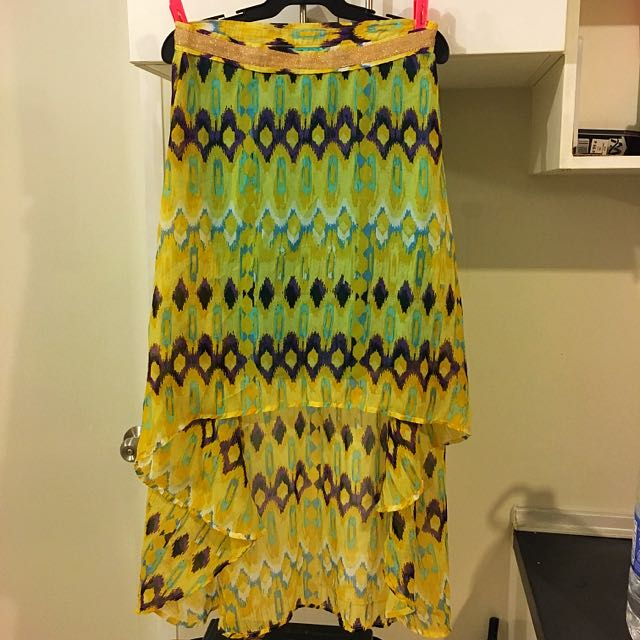 Yellow Mullet / High-Low Skirt