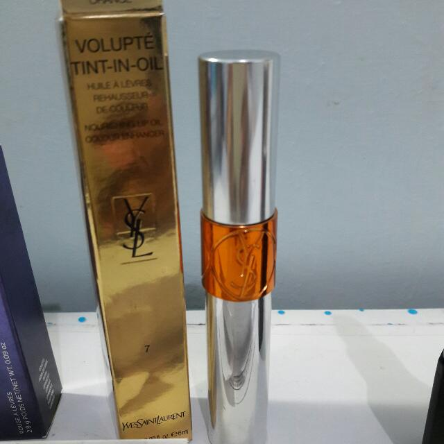 YSL Volupte Tint In Oil - No. 7 Crush Me Orange ( +free Ongkir Lewat SHOPEE!! )