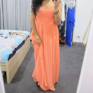 watermelon/coral dress