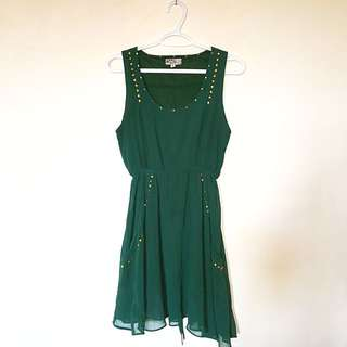 Green Flowy Dress