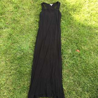Basic Black Cotten Maxi Dress