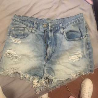 Nobody High Boy Denim Shorts