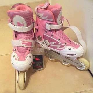 🔒Cougar brand, kids size 2 rollerblades/roller skates 🔒