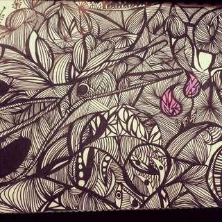 Zen Tangle Art A4 Size