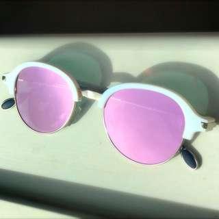 Sunglasses Pink Mirror Lens