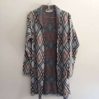 Geometric knit cardigan