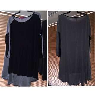 Boohoo Hi Low Stretchy Midi Dress Sz 12-16