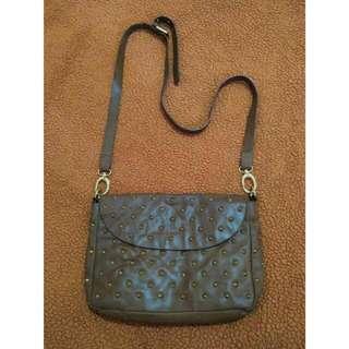 WAREHOUSE Brown Leather Slingbag