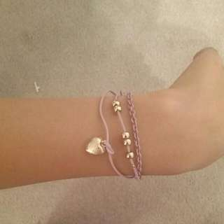 Purple Charm Triple Braclet