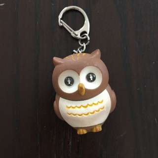 owl keychain that lights up and has sound on it
