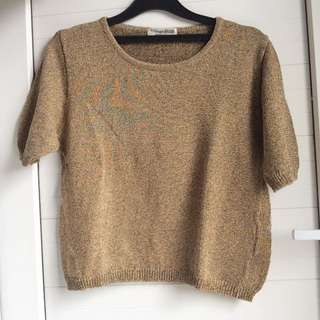Knitted Olive Cropped Top