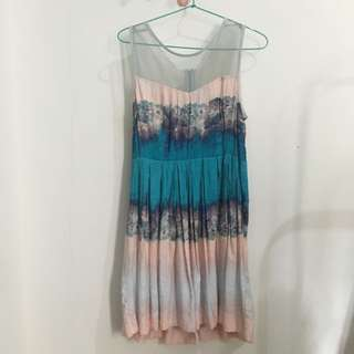 Pastel Abstract Dress
