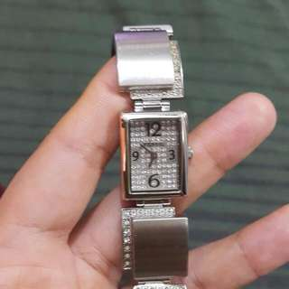 Repriced- Fossil Ladies Watch With Swarovski