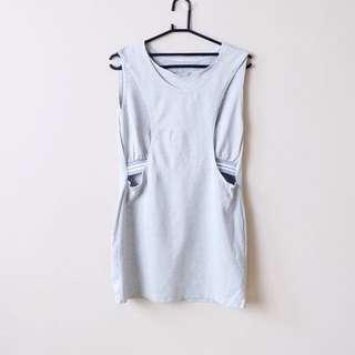 Korean Sporty Grey Mini Dress