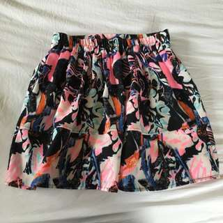 Colourful Skirt With Funky Marble Patterns