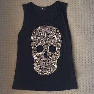 Skull Singlet Top