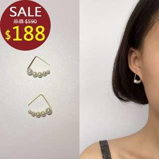韓國珍珠耳墜 耳環 耳夾 無耳洞 韓版 女 飾品