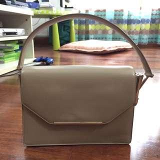 Salvatore Ferragamo Beige/Brown Handbag [AUTHENTIC]