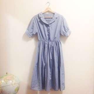 🎈60s 復古女伶藍色洋裝