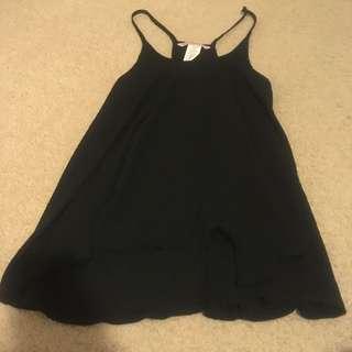 Black Thin Strap Sheer Top