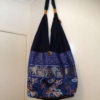 Blue Hippie Boho Bag