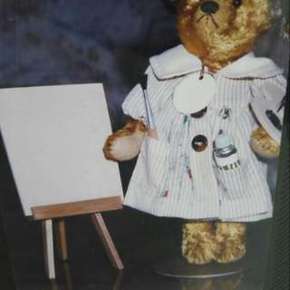 "Hand Crafted Mohair ""Artist Bear"", Inclusive Of Easel. Height: 6 Inches. Will Consider A Good Price If Buyer Is Interested In Purchasing All My Collection Of Bears."