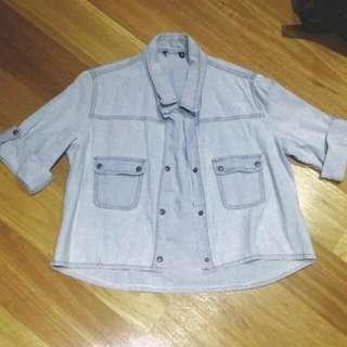 Loose Button-up Denim shirt