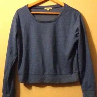 Blue Jumper Sweatshirt Valley Girl Size M
