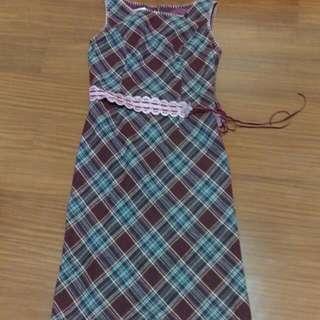 Iris 羊毛格紋洋裝