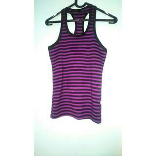 Purple Stripped Tank Top