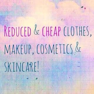 Reduced & Cheap Makeup Skincare Cosmetics