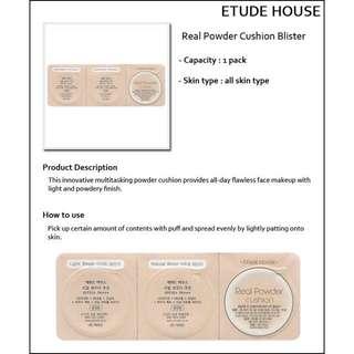 Etude House Real Powder Cushion Spf 50+